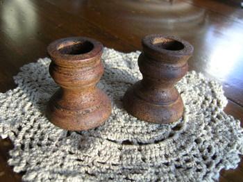 Antiqued Taper Holder Set