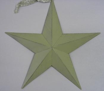 Cream Tin Star