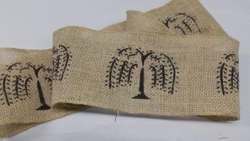 willow tree burlap ribbon