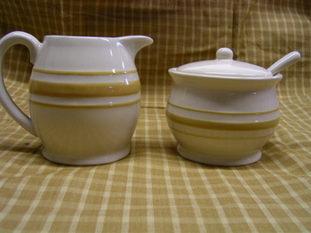 Yellow Ware Sugar Creamer